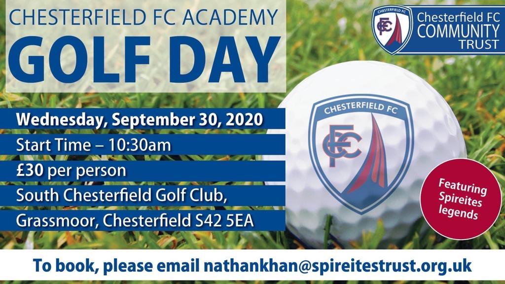 Chesterfield FC Academy Golf Day